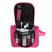 Toponechoice® Waterproof Hanging Cosmetic Travel Bag Organiser with Compartments