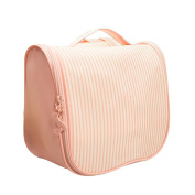 Toponechoice® Big Pink Waterproof Hanging Cosmetic Pouch Makeup Bag with Compartments