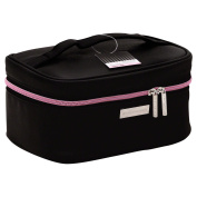STYLEWURKSTM Bold Basic Train Case in Black/Pink