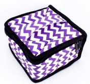Got Oils® Chevron Purple Padded Soft 16 Essential Oils Carrying Case (13cm x 13cm x 7.6cm ) Holds 5, 10 & 15 ml doTERRA, Young Living, Plant Therapy, etc. Bottles