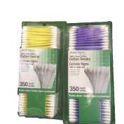 Assured Cotton Swabs 100% Cotton-Soft & Hygienic-Purple/Yellow-Total 700 Swabs
