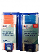 Sound Body Quality Assured Flexible Plastic Cotton Swabs-Blue and Red-Total 800 Swabs