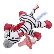 Dr. Brown's Lovey with Pink One-Piece Silicone Pacifier, Zebra
