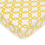 TL Care Heavenly Soft Chenille Crib Sheet, Golden Yellow Gotcha, 70cm x 130cm