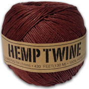 130m of 1mm 100% Hemp Twine Bead Cord in Brown