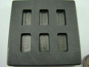 10 Gramme x 6 High Density Graphite Gold Bar Mould 6-Cavities - 5 Gramme Silver Bars