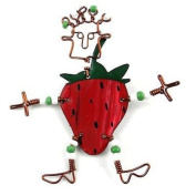 Creative Alternatives Dancing Girl Strawberry Pin