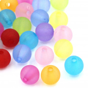 150Pcs 6mm Acrylic Spacer Beads Ball Round Mixed Frosted Jewellery Making Craft