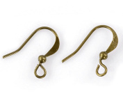 120Pcs Antique Bronze Brass Ear Wire Fish Hooks Earring Dangle Jewellery Making