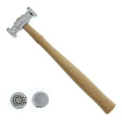Universal Tool Texturising Hammer Dual Face Dimple Stripe Patterns