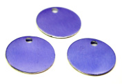 TEN (10) 1.7cm Anodized Aluminium Purple Discs with Pre-Drilled Hole, Finished Blanks for Stamping - 22 Gauge
