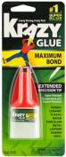 Krazy Glue Maximum Bond No Clog Extended Precision Tip Super Strength Bond