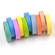 We-buys Rainbow Decorative Paper Stickers Washi Tape Adhesive Tape Scrapbooking DIY Decor