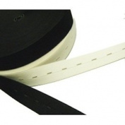 Trimming Shop London Ltd Black Knit Button Hole Elastic Tape - 1 Inch (25mm) Remnants