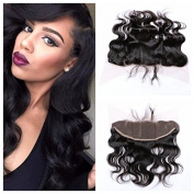 Derun Hair Beauty Lace Closure Size 33cm x 10cm Natural Black Colour 41cm Inch brazilian virgin hair Body Wave ear to ear Lace Frontal