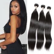 Candysara 6a Brazilian Virgin Hair Straight 3 bundles Brazilian Straight Virgin Hair Unprocessed Virgin Brazilian Hair Human Hair Weave