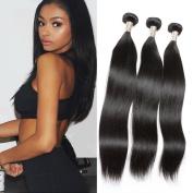 Candysara 6a Brazilian Virgin Hair Straight 3 bundles Brazilian Straight Virgin Hair Unprocessed Virgin Brazilian Hair Human Hair Weave