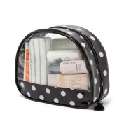 LOUISE MAELYS Polka Dot Clear Cosmetic Bag Zipped Toiletry Bags Travel Storage