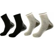 AYAOQIANG Moisturising Gel Heel Socks for Dry Hard Cracked Skin-2 Pair(Man-6.5-11,Black and Grey)