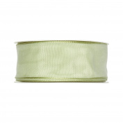 FloristryWarehouse Fabric Ribbon 3.8cm wide x 27 yards Pale Green