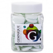 Gemnique X-Large Glass Gems - White Opaque