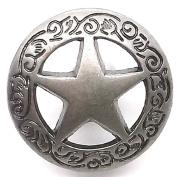 Star with Floral Border Line 24 Snap Cap Nickel 1.9cm 1265-89