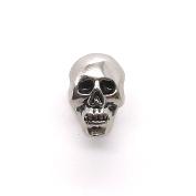Small Skull Head Line 24 Snap Cap Antique Nickel 1.3cm 1265-81