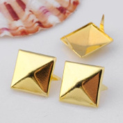Trimming Shop London Ltd en 3D Sqare Metal Cone Diy Studs Claw Rivet Nailhead Spots Leather Craft 100Pc Gold