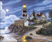 Lighthouse in Moonlight Paper Tole 3D Decoupage Craft Kit size 16x20 16-0305