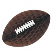 Beistle Company 55802-BR Tissue Football With Laces - Brown