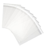 Alytimes 23cm x 30cm Resealable Clear Cello Bags - Tape on Lip (Flap) Set of 100