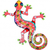 Caribbean Craft Eight Inch Pink Metal Gecko