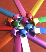 Adecco LLC Origami Stars Papers Package - Platinum - 10 Colours - 300 Sheets
