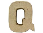 Craft Ped Paper Mache 10cm Letter Q Kraft