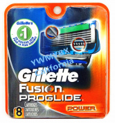 Gillette Fusion Proglide Power Razor Blades,8 Cartridges,100%AUTHENTIC, #007A
