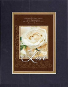 GoodOldSaying - Poem for Love & Marriage - LOVE And now these three remain . . .on 8x10 Biblical Verse set in Double Mat (Black On Gold) - A Priceless Poetry Keepsake Collection