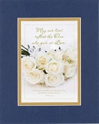 GoodOldSaying - Poem for Love & Marriage - May our lives reflect the One who gave us Love . . . on 8x10 Biblical Verse set in Double Mat (Blue On Gold) - A Priceless Poetry Keepsake Collection