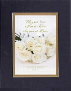 GoodOldSaying - Poem for Love & Marriage - May our lives reflect the One who gave us Love . . . on 8x10 Biblical Verse set in Double Mat (Black On Gold) - A Priceless Poetry Keepsake Collection