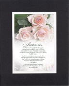 GoodOldSaying - Poem for Love & Marriage - I Will Be Here . . . on 8x10 Biblical Verse set in Double Mat (Black On White) - A Priceless Poetry Keepsake Collection