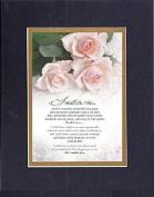 GoodOldSaying - Poem for Love & Marriage - I Will Be Here . . . on 8x10 Biblical Verse set in Double Mat (Black On Gold) - A Priceless Poetry Keepsake Collection