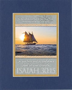 GoodOldSaying - Poem for Inspirations - For thus saith the Lord God, the Holy One of Israel . . . on 8x10 Biblical Verse set in Double Mat (Blue On Gold) - A Priceless Poetry Keepsake Collection