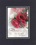 GoodOldSaying - Poem for Love & Marriage - How precious is the promise . . . on 8x10 Biblical Verse set in Double Mat (Black On Black) - A Priceless Poetry Keepsake Collection