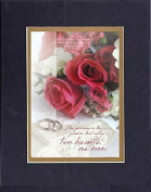 GoodOldSaying - Poem for Love & Marriage - How precious is the promise . . . on 8x10 Biblical Verse set in Double Mat (Black On Gold)- A Priceless Poetry Keepsake Collection