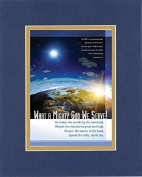 GoodOldSaying - Poem for Inspirations - What a Mighty God We Serve! . . . on 8x10 Biblical Verse set in Double Mat (Blue On Gold) - A Priceless Poetry Keepsake Collection
