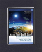 GoodOldSaying - Poem for Inspirations - What a Mighty God We Serve! . . . on 8x10 Biblical Verse set in Double Mat (Black On Black)- A Priceless Poetry Keepsake Collection