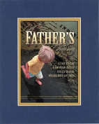 GoodOldSaying - Poem for Father's Day - Happy Father's Day (Proverbs 17:6) . . . on 8x10 Biblical Verse set in Double Mat (Blue On Gold) - A Priceless Poetry Keepsake Collection