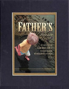 GoodOldSaying - Poem for Father's Day - Happy Father's Day (Proverbs 17:6) . . . on 8x10 Biblical Verse set in Double Mat (Black On Gold) - A Priceless Poetry Keepsake Collection