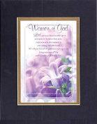 GoodOldSaying - Poem for Inspirations - Women of God . . . on 8x10 Biblical Verse set in Double Mat (Black On Gold) - A Priceless Poetry Keepsake Collection