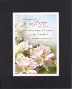 GoodOldSaying - Poem for Inspirations (In Spanish) - Han brotado las flores (Cantares 2:12) - on 8x10 Biblical Verse set in Double Mat (Black On White) - A Priceless Poetry Keepsake Collection