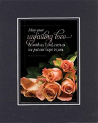 GoodOldSaying - Poem for Love & Marriage - May your unfailing love be with us . . . on 8x10 Biblical Verse set in Double Mat (Black On Black) - A Priceless Poetry Keepsake Collection